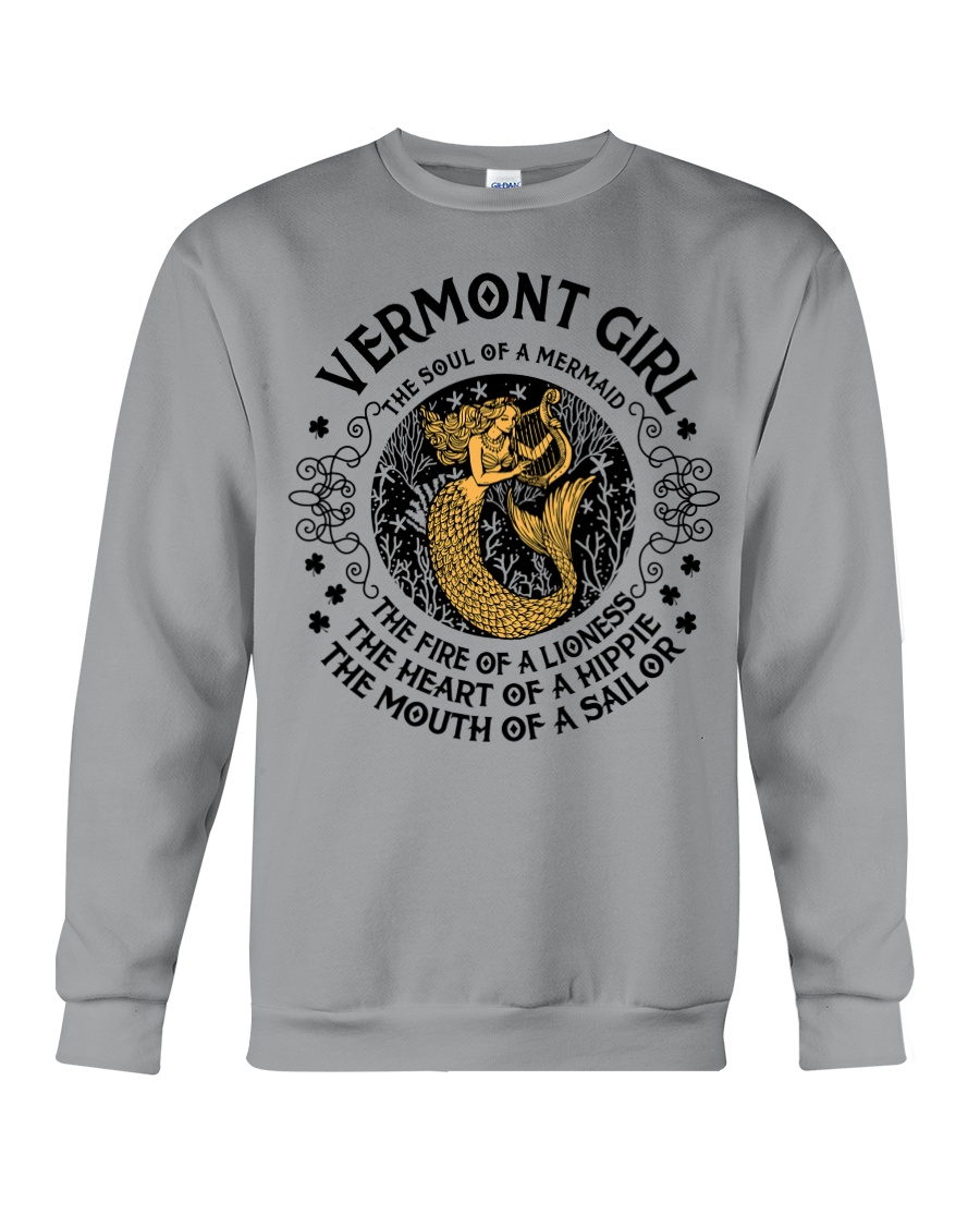 Vermont Mermaid Girl Crewneck Sweatshirt