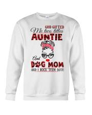 Auntie and Dog Mom Crewneck Sweatshirt tile