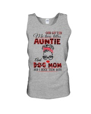 Auntie and Dog Mom Unisex Tank tile