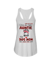 Auntie and Dog Mom Ladies Flowy Tank tile