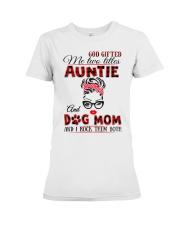 Auntie and Dog Mom Premium Fit Ladies Tee tile
