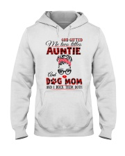 Auntie and Dog Mom Hooded Sweatshirt front
