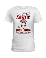 Auntie and Dog Mom Ladies T-Shirt tile