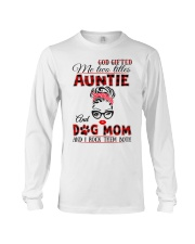 Auntie and Dog Mom Long Sleeve Tee tile