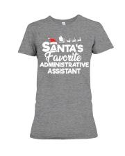 Santa's Favorite Administrative Assistant Premium Fit Ladies Tee thumbnail