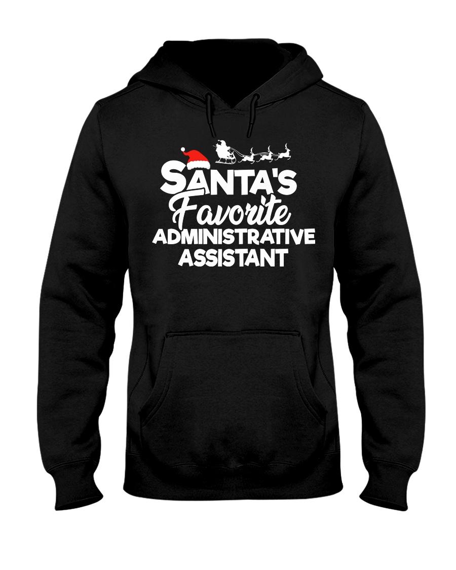 Santa's Favorite Administrative Assistant Hooded Sweatshirt