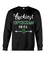 Luckiest Optician Ever Crewneck Sweatshirt thumbnail