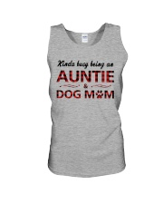 Kinda busy being an Auntie and Dog Mom Unisex Tank thumbnail