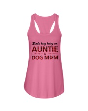Kinda busy being an Auntie and Dog Mom Ladies Flowy Tank thumbnail