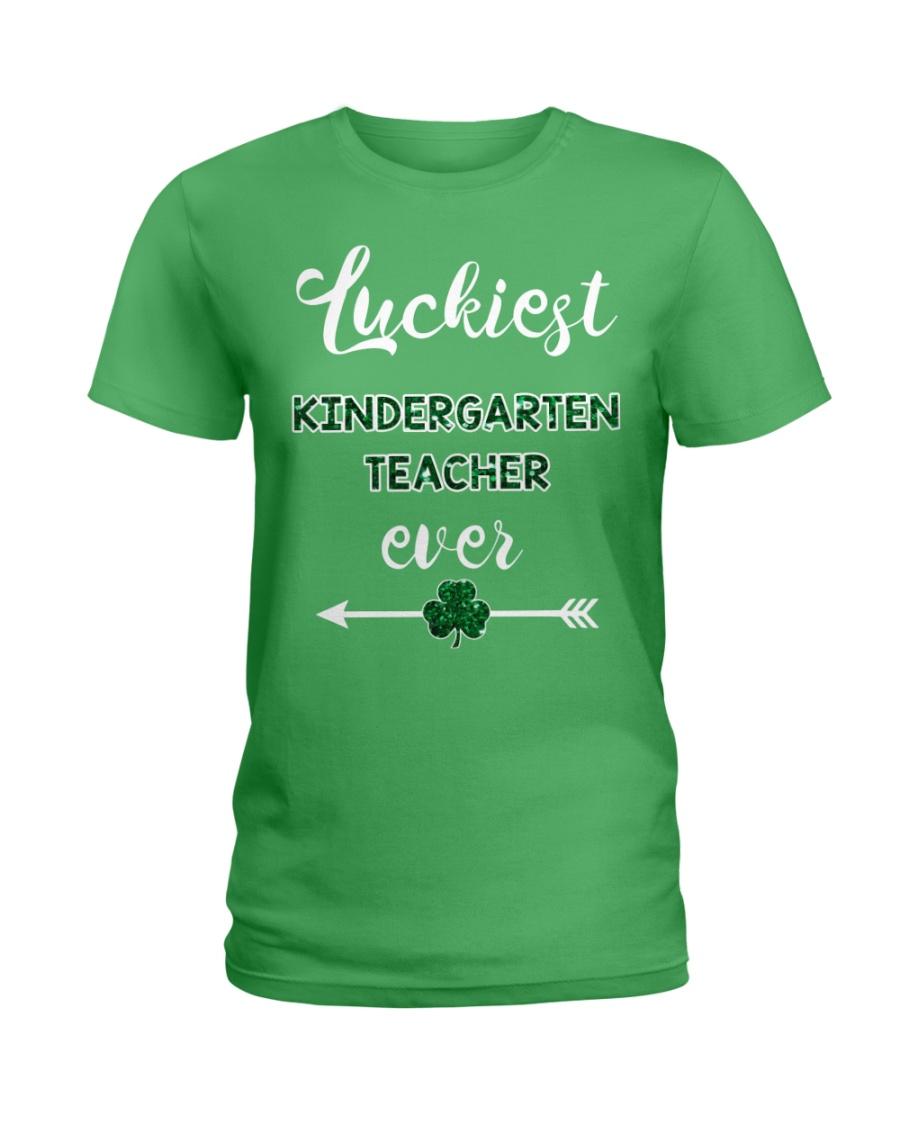 Luckiest Kindergarten Teacher Ever Ladies T-Shirt