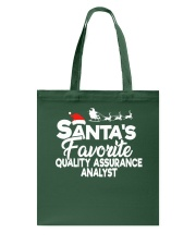 Santa's favorite Quality Assurance Analyst Tote Bag thumbnail