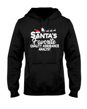Santa's favorite Quality Assurance Analyst Hooded Sweatshirt front