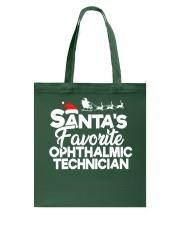 Christmas Santa's favorite Ophthalmic Technician Tote Bag thumbnail
