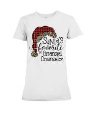 Santa's favorite Financial Counselor Premium Fit Ladies Tee tile