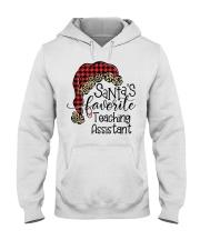 Santa's favorite Teaching Assistant Hooded Sweatshirt front