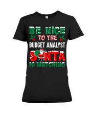 Be nice to the Budget Analyst Premium Fit Ladies Tee thumbnail