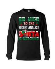 Be nice to the Budget Analyst Long Sleeve Tee thumbnail