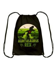 Auntasaurus Drawstring Bag thumbnail