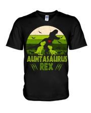 Auntasaurus V-Neck T-Shirt thumbnail