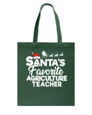 Santa's favorite Agriculture Teacher Tote Bag thumbnail