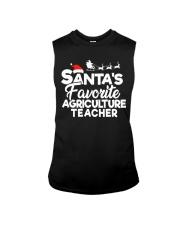 Santa's favorite Agriculture Teacher Sleeveless Tee thumbnail