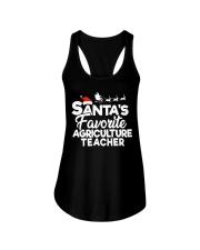 Santa's favorite Agriculture Teacher Ladies Flowy Tank thumbnail