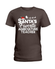 Santa's favorite Agriculture Teacher Ladies T-Shirt thumbnail