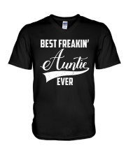 Best freakin' auntie ever V-Neck T-Shirt thumbnail