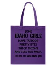 Idaho Girls Tote Bag thumbnail