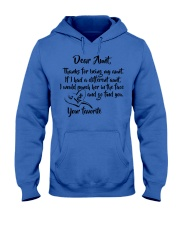 Dear aunt lovely nephew and niece Hooded Sweatshirt tile