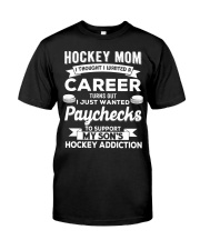 Hockey Mom - Support son's addition Classic T-Shirt thumbnail
