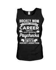 Hockey Mom - Support son's addition Unisex Tank thumbnail
