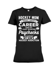 Hockey Mom - Support son's addition Premium Fit Ladies Tee thumbnail