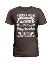 Hockey Mom - Support son's addition Ladies T-Shirt thumbnail