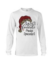 Santa's favorite Media Specialist Long Sleeve Tee tile