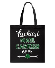 Luckiest Mail Carrier Ever Tote Bag thumbnail