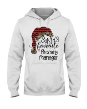 Santa's favorite Grocery Manager Hooded Sweatshirt front