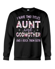 Rockin' Aunt and Godmother Crewneck Sweatshirt thumbnail