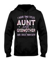Rockin' Aunt and Godmother Hooded Sweatshirt thumbnail