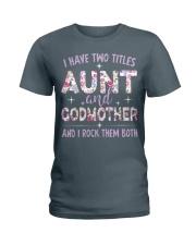 Rockin' Aunt and Godmother Ladies T-Shirt tile