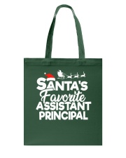 Christmas Santa's favorite Assistant Principal Tote Bag tile