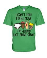 Hot aunt stuff V-Neck T-Shirt tile