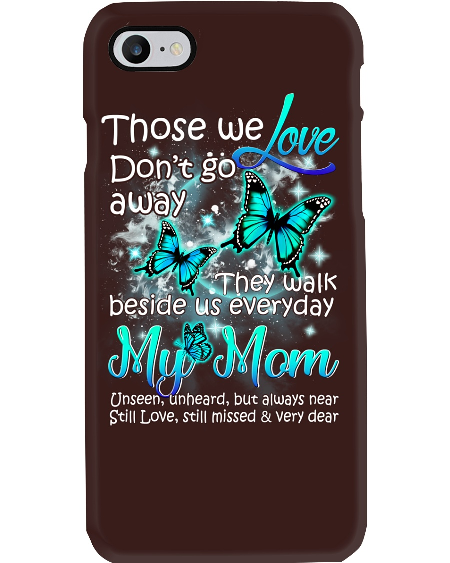 In loving memory of mom butterfly Phone Case