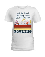 Bowling Ladies T-Shirt front