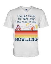 Bowling V-Neck T-Shirt thumbnail