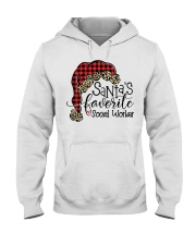 Santa's favorite Social Worker Hooded Sweatshirt thumbnail
