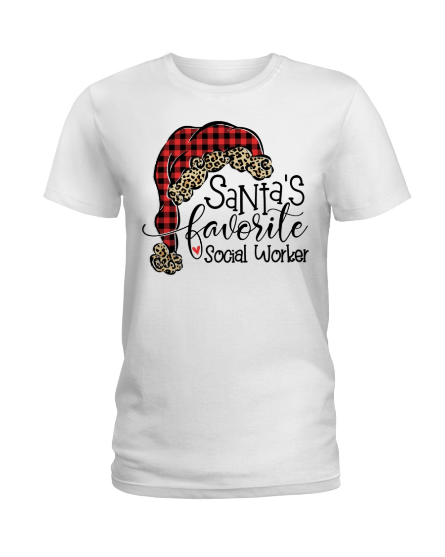 Santa's favorite Social Worker Ladies T-Shirt