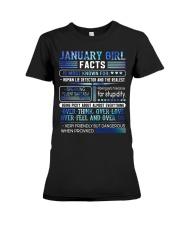 January Girl Facts Premium Fit Ladies Tee thumbnail