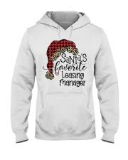 Santa's favorite Leasing Manager Hooded Sweatshirt front