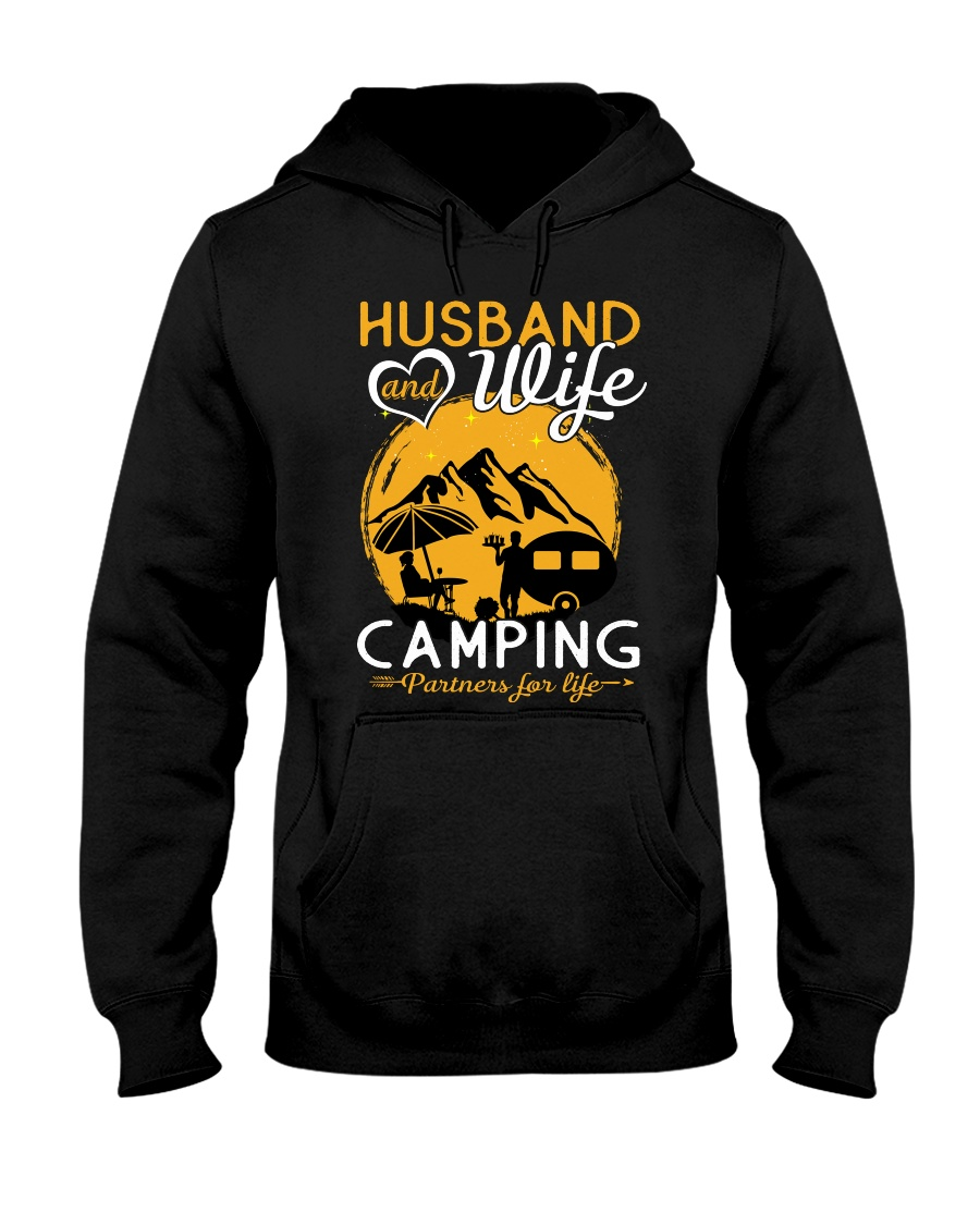 Husband and wife best camping partners for life Hooded Sweatshirt
